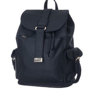 Handbags - NEW Stylish Drawstring Backpack Black